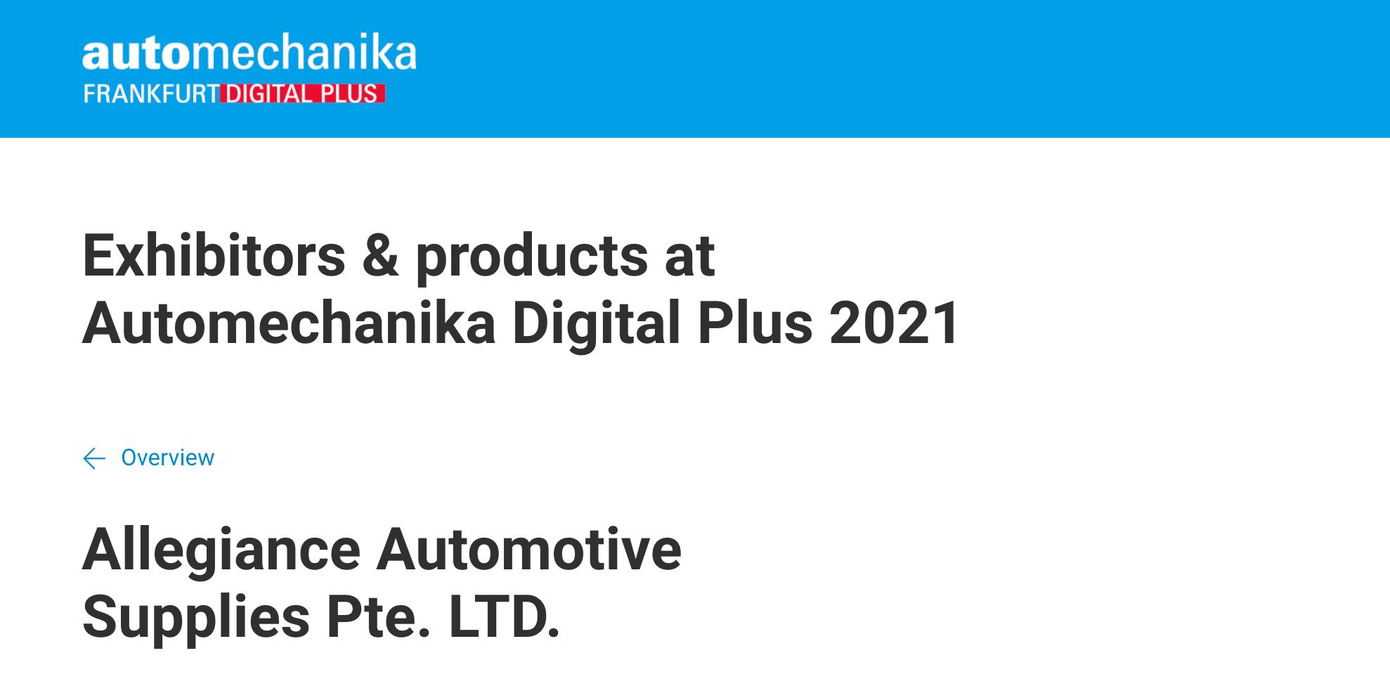 AAS automechanika digital plus 2021